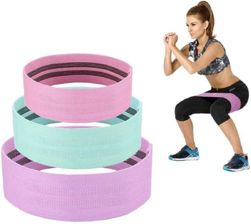 CHYU Fitness Bands, Resistance Bands, Resistance Bands, Training Bands for Legs and Buttocks, Non-Slip Rubber Bands for Beginners, Ideal for Home Trai