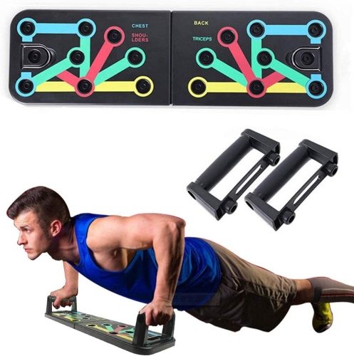 CHYU Push Up Bar Push Up Board 11 in 1 Push Up Board Fitness Training for Home Sports Equipment Muscle Building Body Building Color Markings Non-Slip