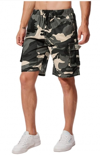 Men's Shorts Cotton Cargo Shorts Bermuda Sweat Pants Camouflage Summer Shorts