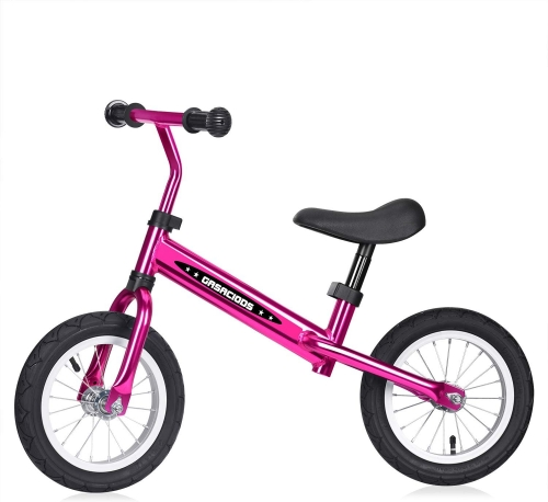 Balance Bike for Kids and Toddlers, No Pedal Lightweight Sport Balance Bicycle with Aluminium Alloy Steel Frame, Adjustable Handlebar and Seat Push