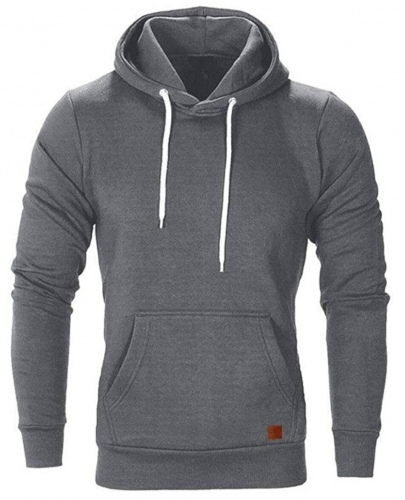 Men's sweatshirt hoodie pullover hoodie high hood kangaroo pocket ribbed sleeves and cuffs sweat jacket casual streetwear basic style