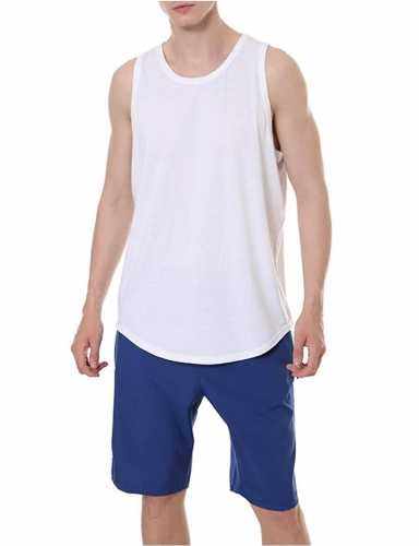 Undershirt Men's Tank Top Open Edge Loose Sport Tank Top Men's Vest Top for Sports Outdoor Style